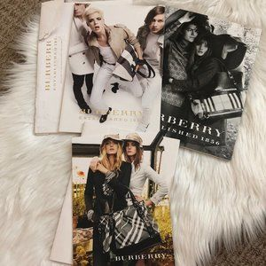 2 - 2008, 2009 Burberry Catalogs & 1 SS 2009 Card